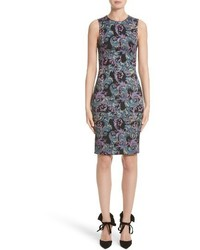 Versace Collection Jacquard Sheath Dress