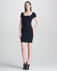 Dsquared2 Heart Back Fitted Jersey Dress