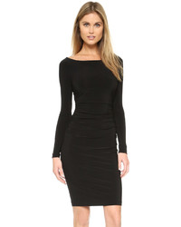 Norma Kamali Kamali Kulture Long Sleeve Dress With Shirred Waist
