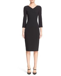 Michael Kors Michl Kors Pebble Crepe Sheath Dress