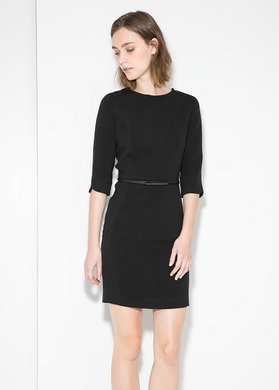 Mango Outlet Outlet Belted Pencil Dress Where To Buy How To Wear