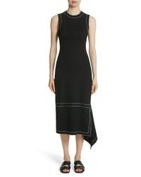 Rosetta Getty Rosetta Getta Asymmetrical Contrast Stitch Dress