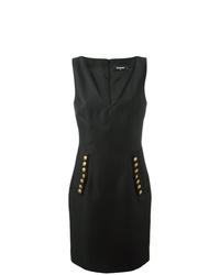 Dsquared2 V Neck Decorative Button Dress