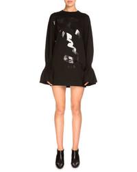 Kenzo Bell Sleeve Jersey Shift Dress Black