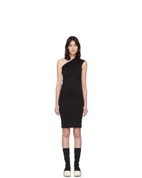 Rick Owens DRKSHDW Black One Shoulder Tunic Dress