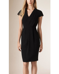 Burberry Drape Front Shift Dress