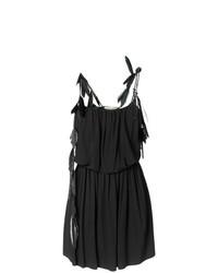 Saint Laurent Feather Trim Strappy Dress