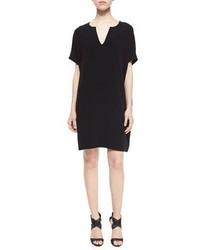 Diane von Furstenberg Kora Short Sleeve Shift Dress Black