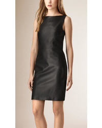 Burberry Lambskin Shift Dress