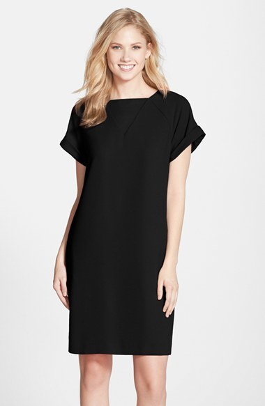 Andrew Marc Marc New York By Crepe Short Sleeve Shift Dress | Where ...