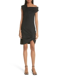 Helmut Lang One Shoulder Ruched Hem Dress
