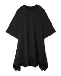 MM6 MAISON MARGIELA Oversized Asymmetric Cotton Jersey Mini Dress