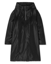 Maison Margiela Oversized Hooded Med Silk Taffeta Mini Dress