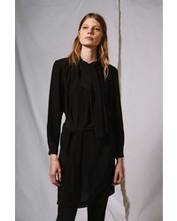 Boutique Scarf Drape Shift Dress