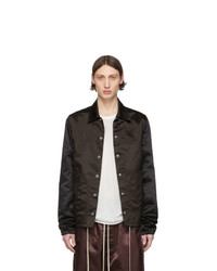 Rick Owens Black And Brown Bauhaus Jacket