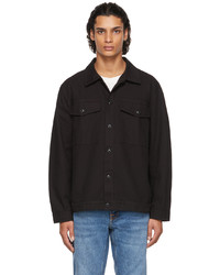 Nudie Jeans Black Canvas Colin Overshirt