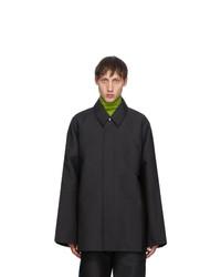 Keenkee Black Drop Shoulder Coat