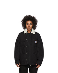 Carhartt Work In Progress Black Fairmount Coat