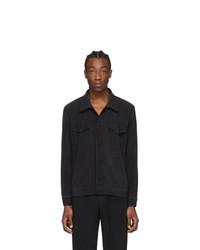 Homme Plissé Issey Miyake Black Pleated Tailored Jacket