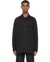 McQ Black Twill Overshirt Jacket