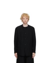 Issey Miyake Men Black Wool Jacket