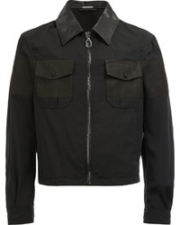 Lanvin Cropped Zip Front Shirt Jacket