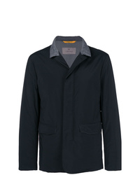 Canali Lightweight Contrasting Collar Jacket