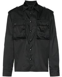 Prada Logo Plaque Shirt Jacket