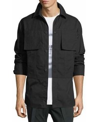 Helmut Lang Shirting Trim Button Front Jacket