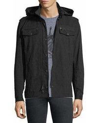 John Varvatos Star Usa Double Zip Hooded Shirt Jacket