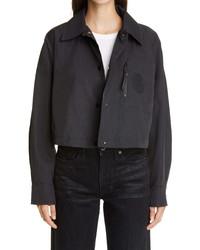 Fendi X Joshua Vides Ff Logo Patch Hooded Crop Jacket