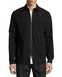 Helmut Lang Zip Front Shirt Jacket Black