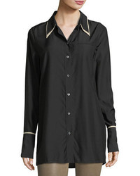 J Brand Blake Oversized Long Sleeve Poplin Shirt