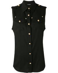 Balmain Buttoned Sleeveless Shirt