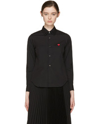 Comme des Garcons Play Black Small Heart Shirt