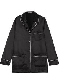 Dolce & Gabbana Silk Satin Shirt Black