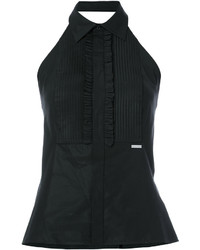 Dsquared2 Sleeveless Frilled Bib Shirt