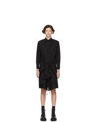 Regulation Yohji Yamamoto Black R Updown Shirt Dress