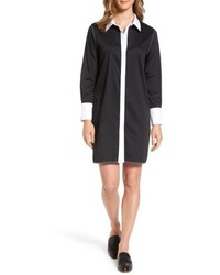 Ming Wang Contrast Trim Shirtdress