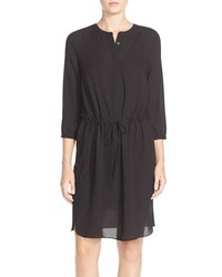 NYDJ Lauren Pleat Back Georgette Shirtdress