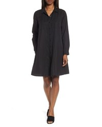 Eileen Fisher Petite Classic Collar A Line Shirtdress