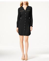 Calvin Klein Zip Pocket Shirt Dress