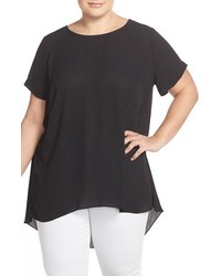 Vince Camuto Plus Size Highlow Short Sleeve Blouse