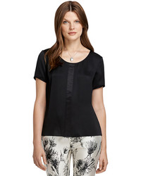 Brooks Brothers Short Sleeve Silk Blouse