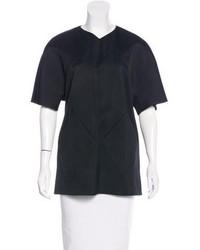 Balenciaga V Neck Short Sleeve Blouse