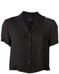 Black short sleeve button down shirt original 9837861