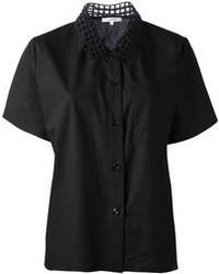 Carven Mesh Collar Shirt