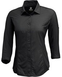 Women's Black Short Sleeve Button Down Shirts by Merrell | Women's ...
