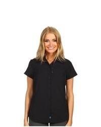 Columbia Silver Ridge Ss Shirt Short Sleeve Button Up Black