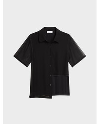 DKNY Contrast Stitched Button Up Shirt